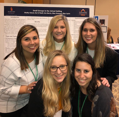 School Counseling Students at a Poster Presentation