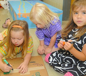 Children playing in summer enrichment program
