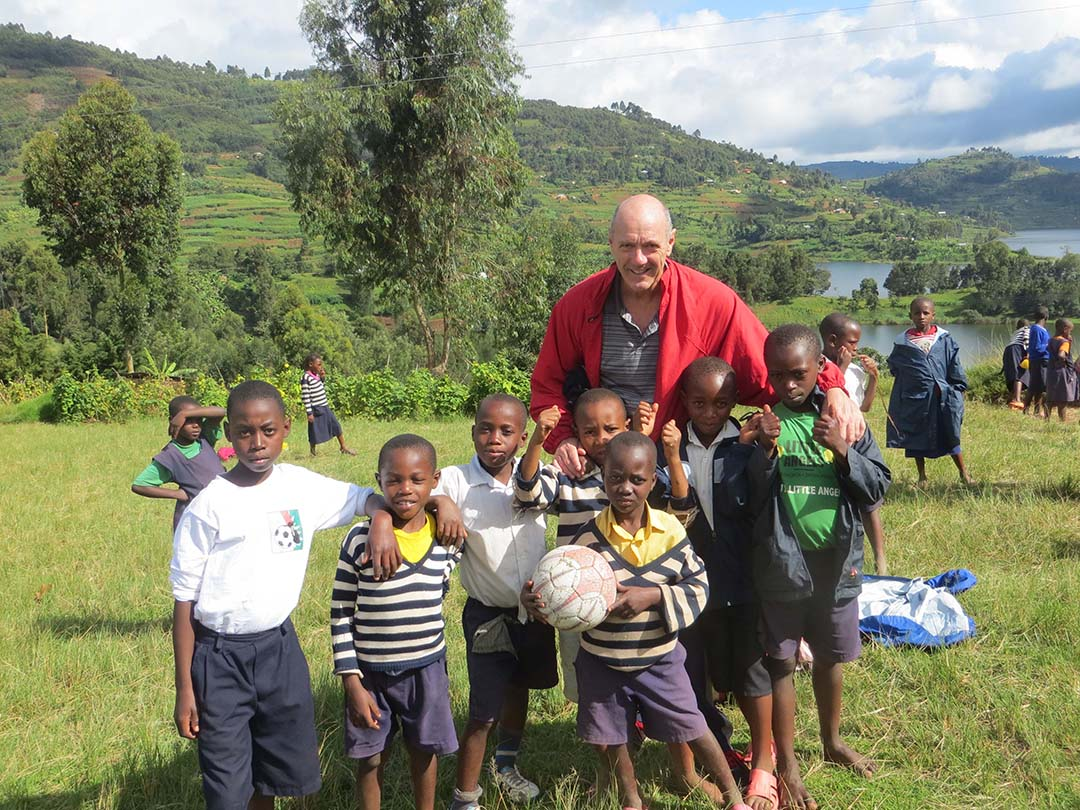 Dr. Peter Hastie with Children from the East African Mission Orphanage in Kenya