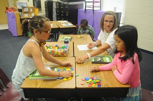 Mathematics workshop at Ogletree Elementary - Students