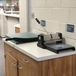 Die cut and paper cutting machines available within the LRC Commons.