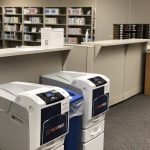 Printers available within the LRC Commons area.