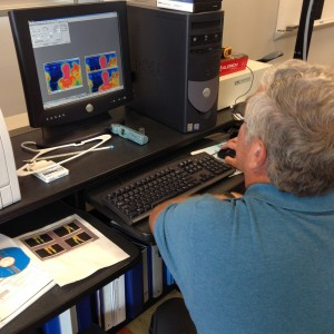 Pascoe reviewing infrared images