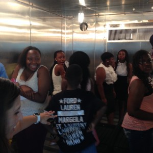 campers in environmental chamber