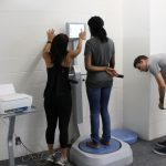 body composition scale analysis on student
