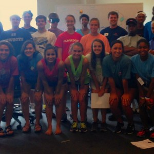 sports science camp group picture