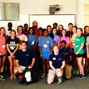 group picture of sports science camp