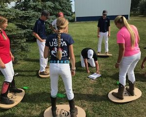 balance board exercises with polo players