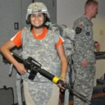 military gear and weapon