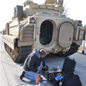 Measuring vibration and shock in the Bradley Fighting Vehicle