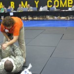 Dr. Sefton stretching soldier