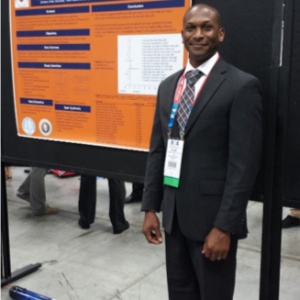 Post Doctoral researcher presenting his research at the National Athletic Trainers Conference