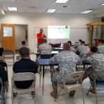 classroom presentation to soldiers