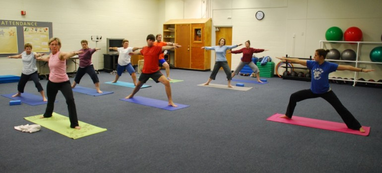 Yoga class exercise adherence