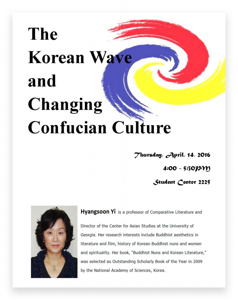 The Korean Wave and Changing Confucian Culture Events Flyer