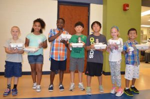 Students show off their lunches