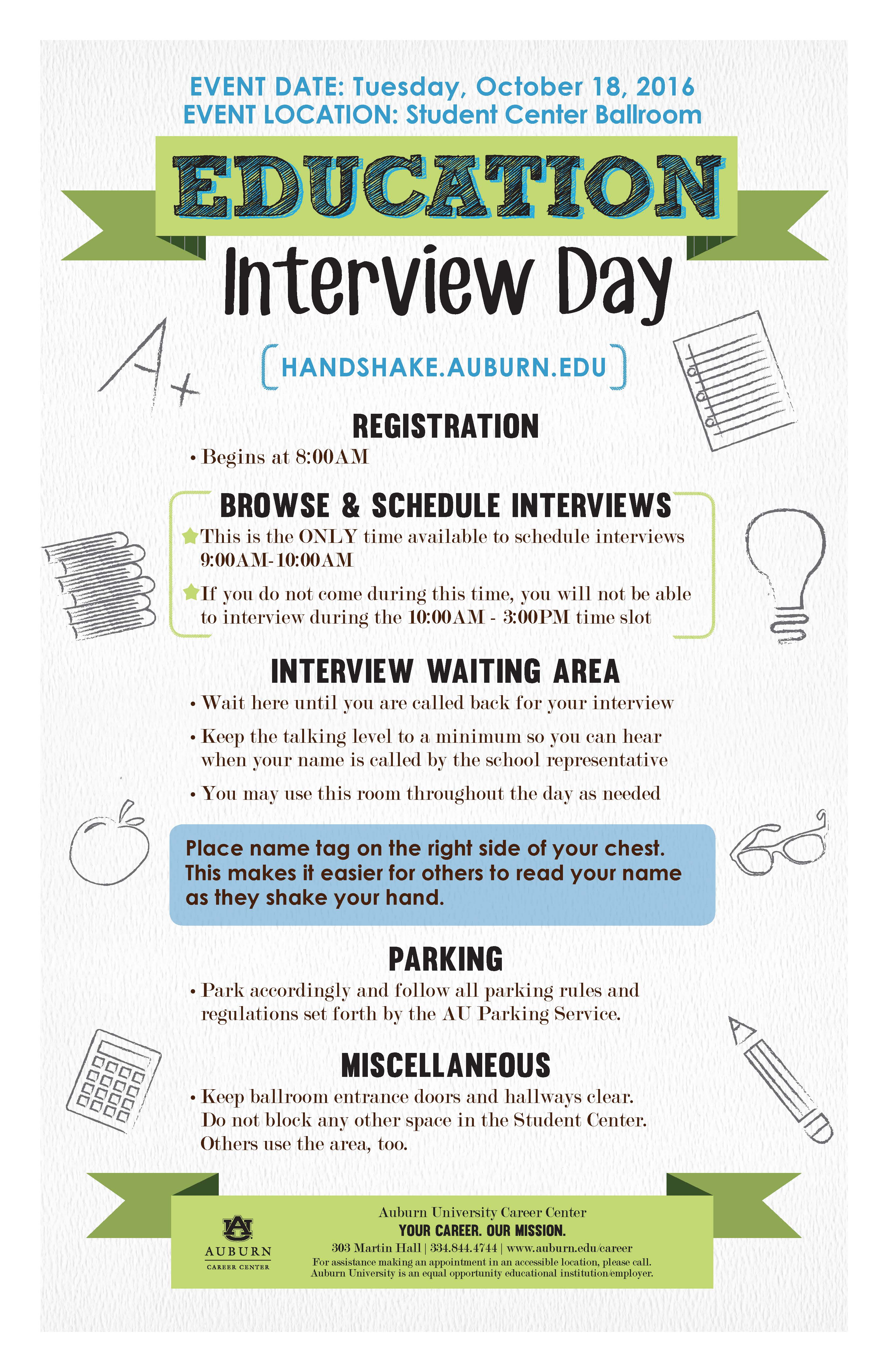 Education Interview Day Flyer