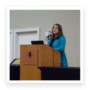 Dr. Melissa Mercado, expert on youth violence and bullying prevention with the CDC in Atlanta, shared the latest research statistics on bullying as well as valuable intervention resources at AU's 7th Annual Anti-Bullying Summit.