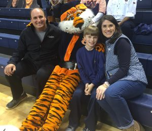 Ricketta Wilson and family with Aubie