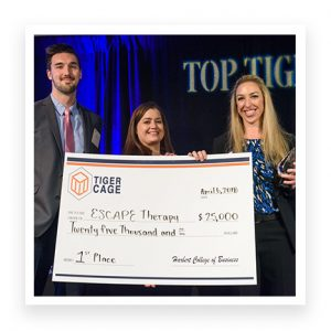 "Two College of Education Kinesiology doctoral students, Sarah Gascon and Matt Hanks, were part of the three-person team that won the grand prize in the ""Final Four"" of the competition, Tiger Cage."
