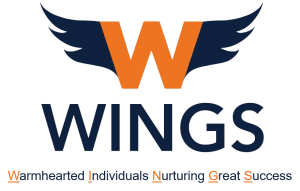WINGS Logo | Warmhearted Individuals Nurturing Great Success
