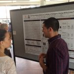 Paul Roberson presenting poster