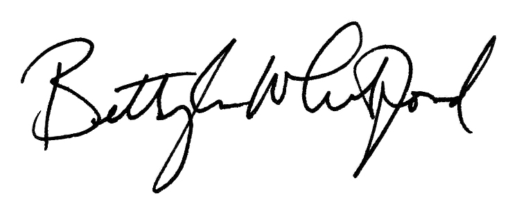 Betty Lou Whitford Signature