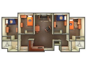 3D view of suite