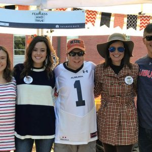 Tailgating before an AU game at the family tent.