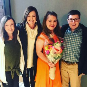 Bradley and family supporting Anna at her AU Singers Concert.