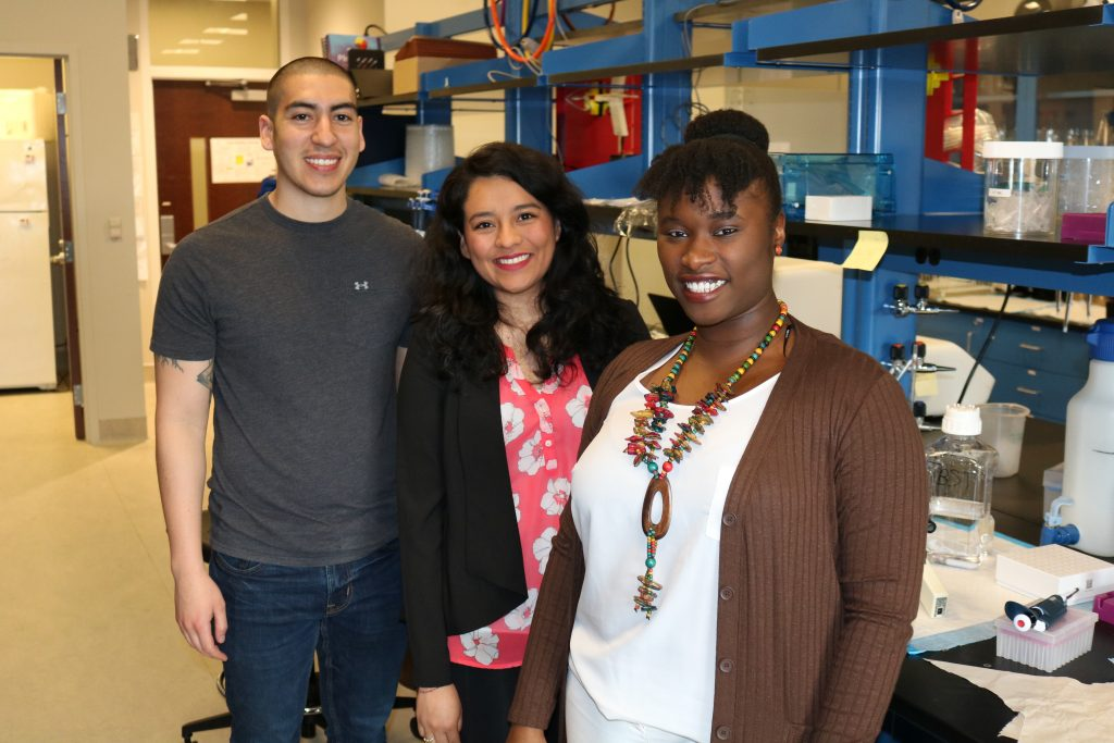 Kinesiology doctoral students in lab