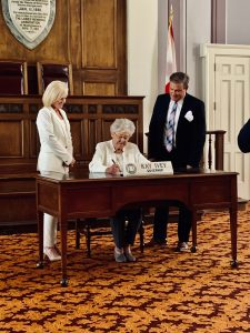 Governor Kay Ivey signing the Lights On Afterschool Proclamation