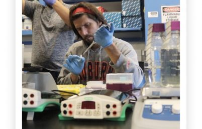 Mike Roberts working in his lab