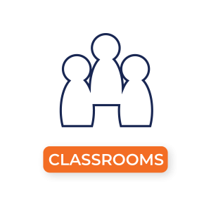 """""""Classrooms"""" Icon of People"""