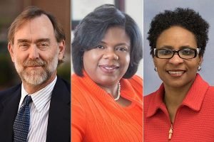 Drs. Bruce Smith, Taffye Benson Clayton and Melody Russell spearheaded Auburn University's procurement of a $1.5 million grant from the National Institutes of Health's National Institute of General Medical Sciences to broaden student participation in the biomedical sciences.
