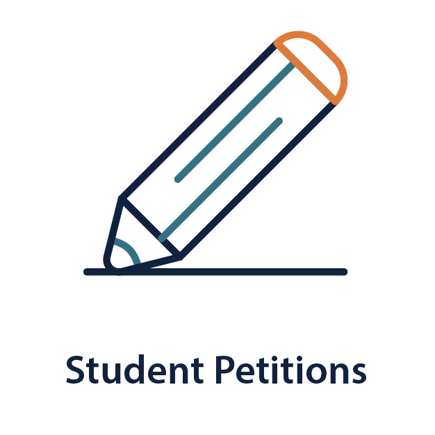 """Illustration of a pencil   """"Student Petitions"""""""